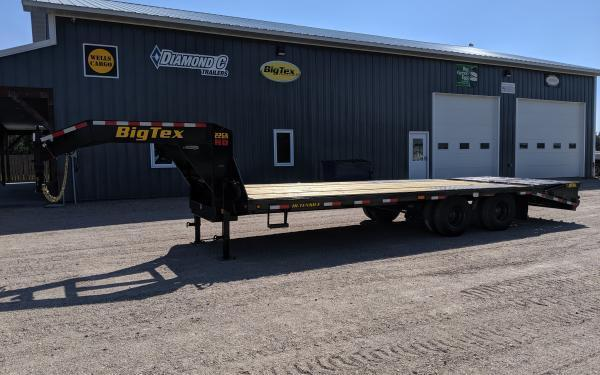 2020 Big Tex 22GN 8.5 x 25+5 Flatbed Trailer w/ Mega Ramps