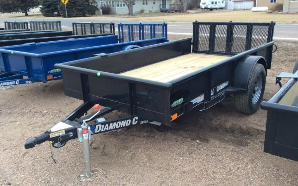"2019 Diamond C 2PSA 60"" x 10' 5K Utility Trailer w/ Bi-fold Ramp Gate"