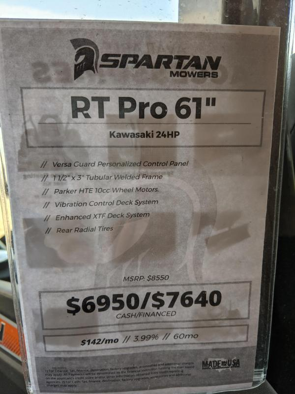 2020 Spartan Mowers RT Pro 61'' Lawn Mowers