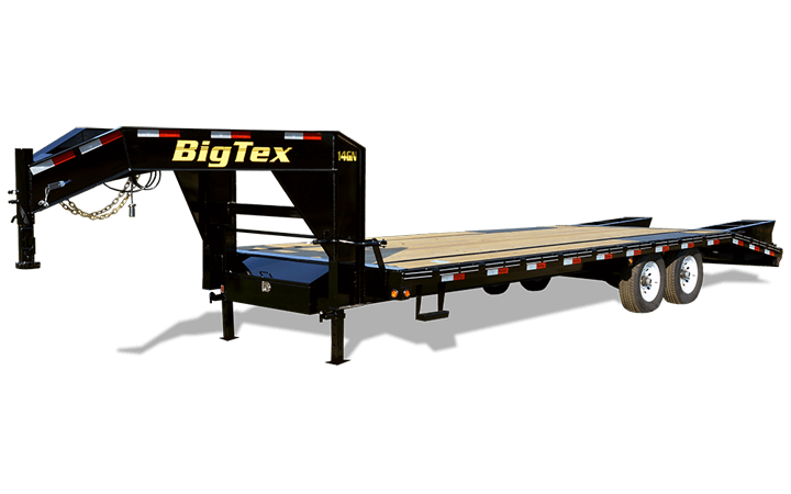 2020 Big Tex 14GN 8.5 x 20+5 Flatbed Trailer w/ Mega Ramps