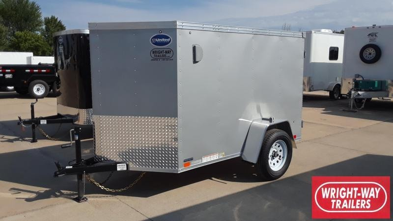 United 5X8 Enclosed Cargo Trailer