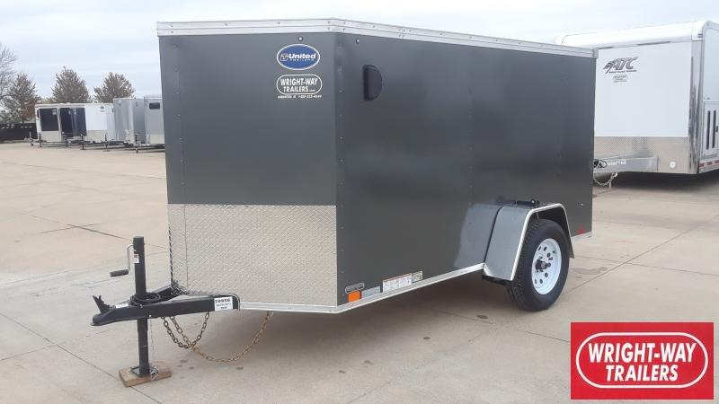 2020 United Trailers 5X10 V NOSE Enclosed Cargo Trailer