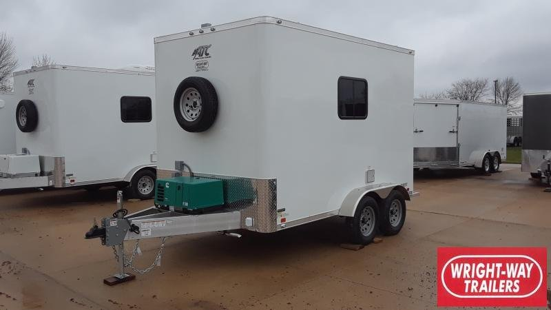 2019 ATC 7 X 12 FIBER OPTICS Enclosed Cargo Trailer