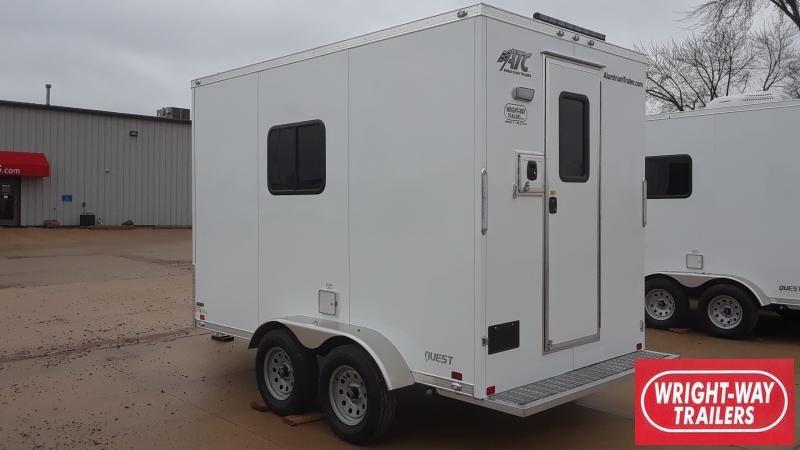 2019 ATC 7 X 12 FIBER OPTICS Enclosed Cargo Trailer