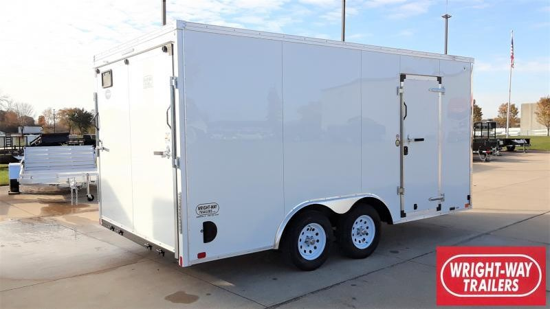 2020 United Trailers 8.5 X 16 FLAT FRONT Enclosed Cargo Trailer