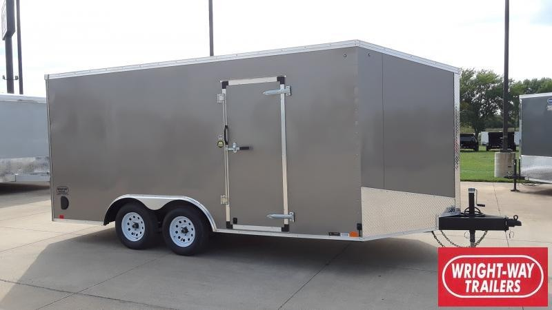 "2020 United Trailers FLAT TOP 16'+36"" V NOSE Enclosed Cargo Trailer"