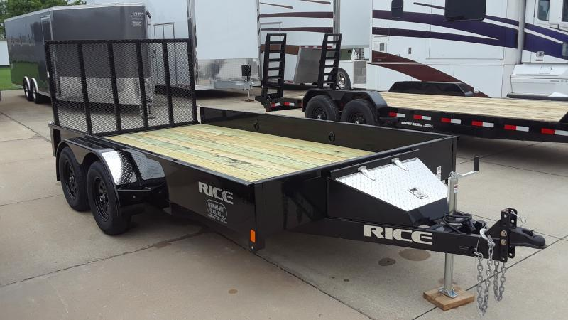 2020 Rice TANDEM STEALTH 8214 Utility Trailer
