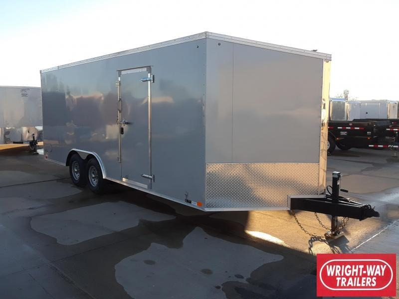United 8.5x20 V Nose Slant Car / Racing Trailer