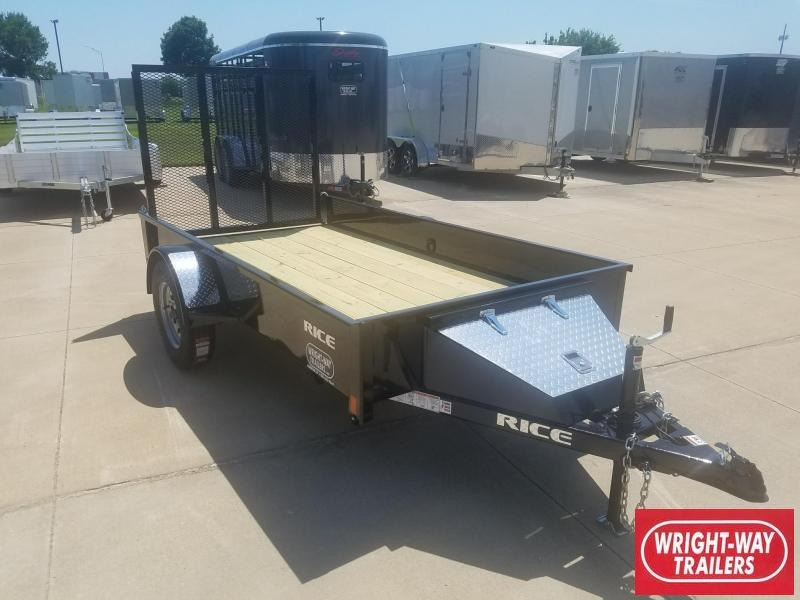 2018 Rice 5X10 Steel Utility Trailer