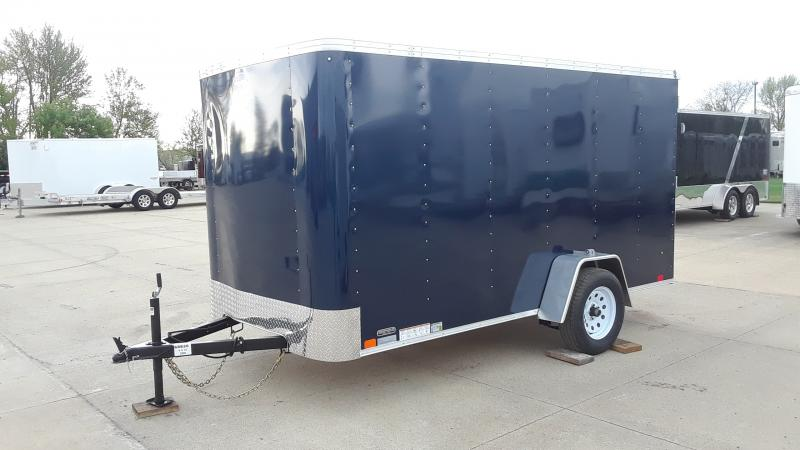 2020 United Trailers 6x12 FLAT FRONT CARGO Enclosed Cargo Trailer