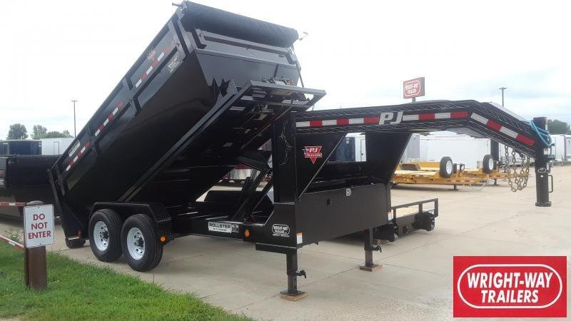 PJ Rollster 14' Roll Off Dump Trailer