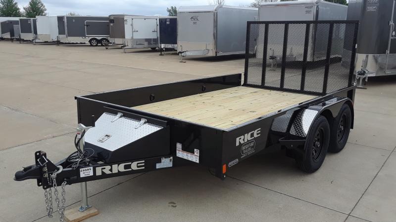 2020 Rice 82 X 12 TANDEM Utility Trailer