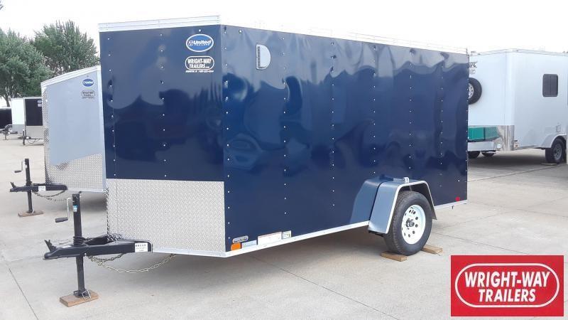 United 6X12 Enclosed Cargo Trailer
