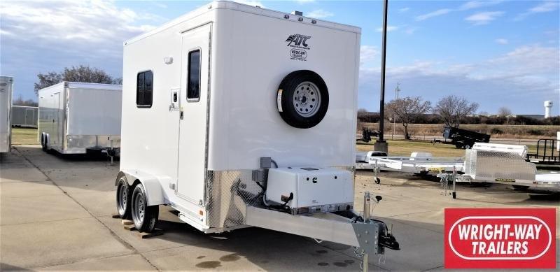 2020 ATC 7 X 12 FIBER OPTICS Enclosed Cargo Trailer