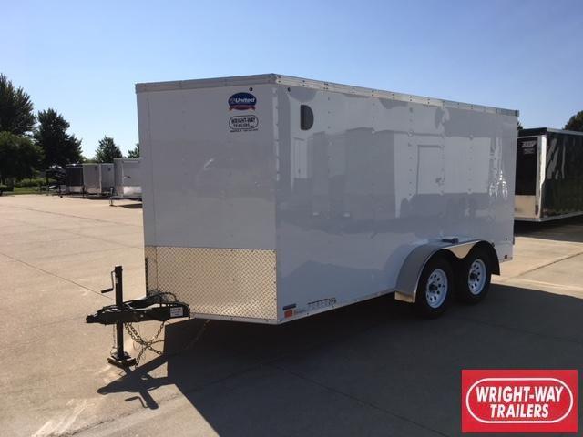 2019 United 7x14 Enclosed V-Nose Cargo Trailer