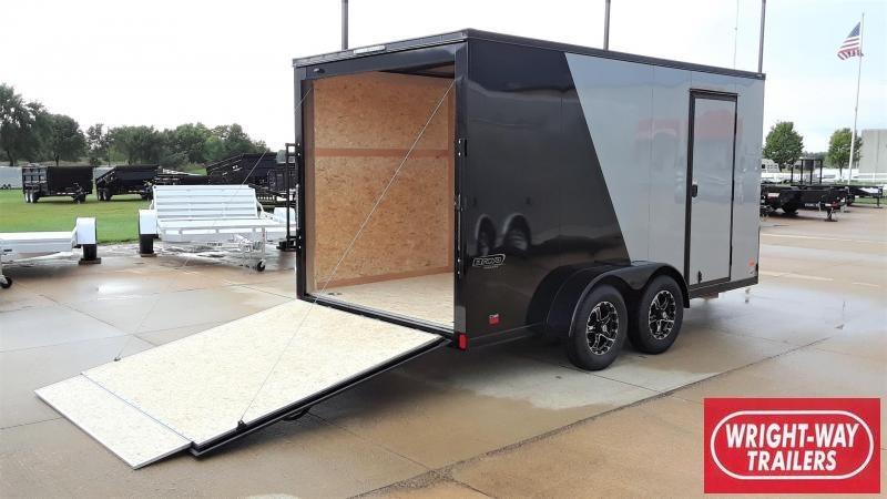 Bravo 7X14 Blackout Enclosed Cargo Trailer
