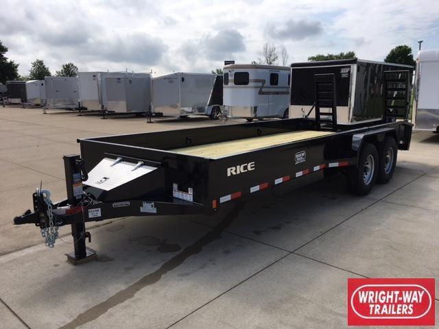 "2018 Rice 6'10"" X 20' Flatbed Equipment Trailer"