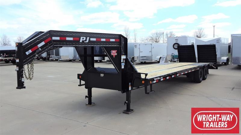 2020 PJ Trailers 32' Low-Pro Flatdeck W/ Duals Flatbed Trailer