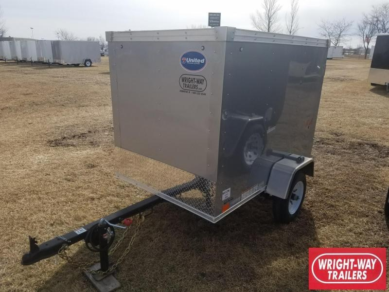 2018 United Trailers 4X6 CARGO Enclosed Cargo Trailer