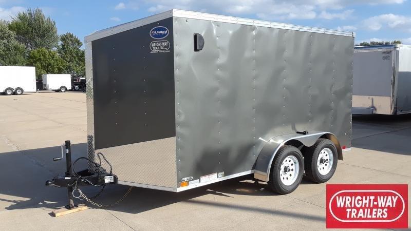 2020 United Trailers 7x12  V NOSE Enclosed Cargo Trailer