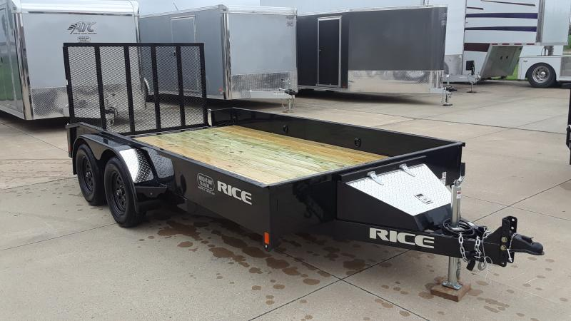 2020 Rice 82 X 12+2 TANDEM Utility Trailer