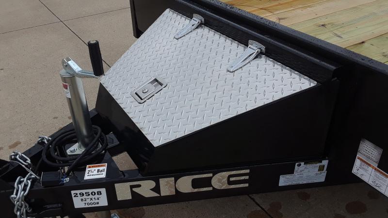 2020 Rice 82 X 12+2 TANDEM Utility Trailer