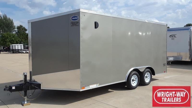 United 8.5X16 V Nose Enclosed Cargo Trailer