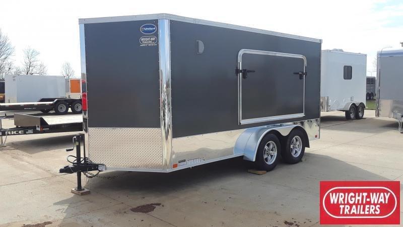 United 7X14 Motorcycle Trailer Camping Tent Door