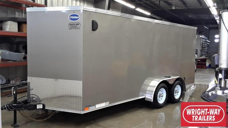 United 7X16 Enclosed Cargo Trailer