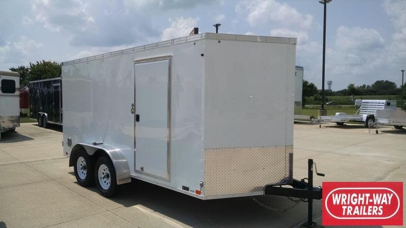 2019 United Trailers 7X14 Enclosed V-Nose Cargo Trailer