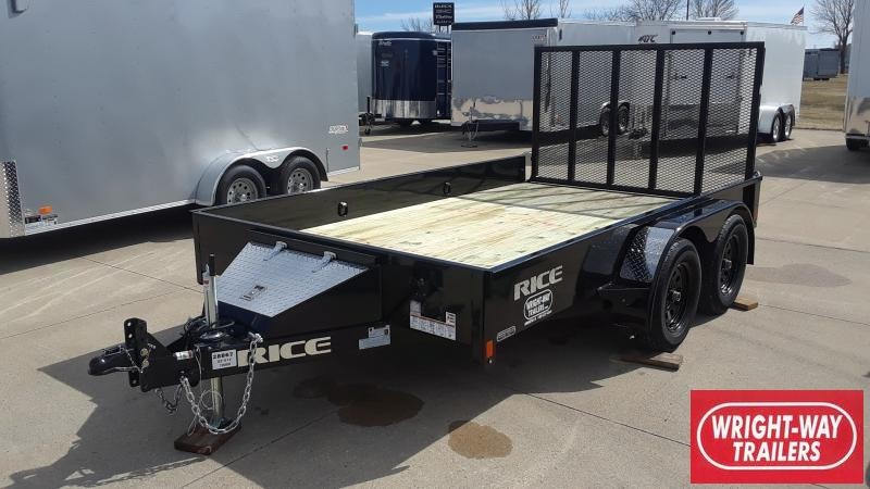2020 Rice 82 X 12 TANDEM Utility Trailer