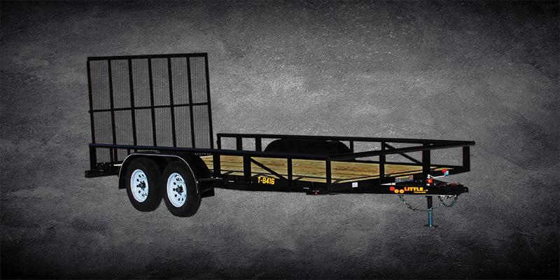 2019 Doolittle Trailer Mfg Premier Pipe-Top 840 Series Tandem Axle 7K Utility Trailer