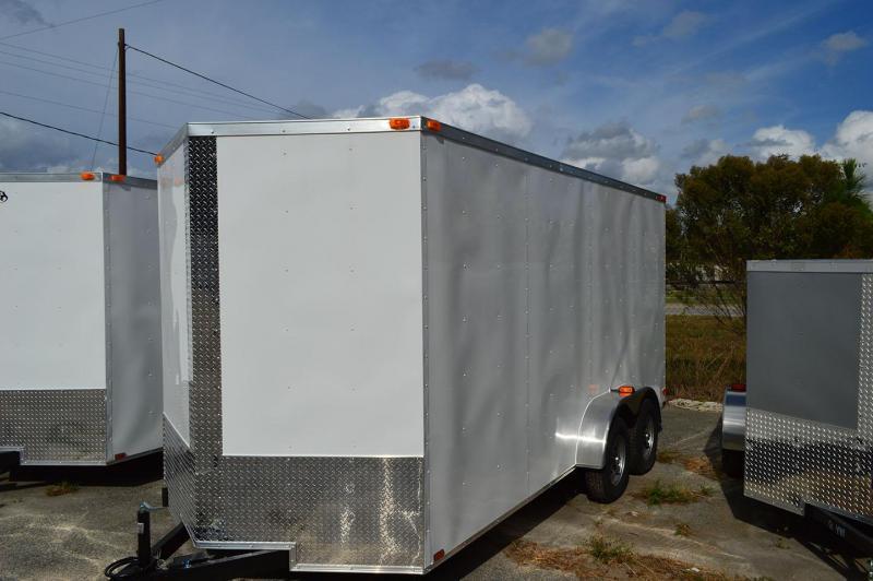 2019 Quality Cargo 7 x 12 Single Axle Enclosed Cargo Trailer