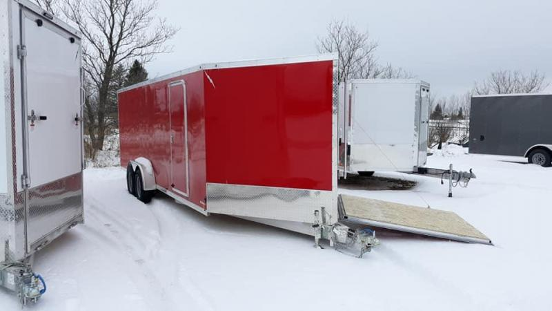 2020 Forest River 7X27 LTFES722TA2 Snowmobile Trailer