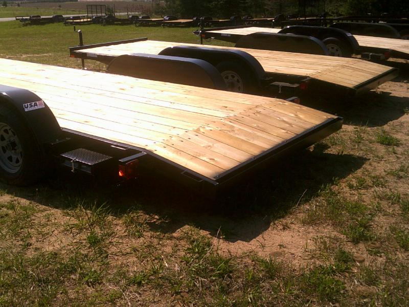 New 82x18 Wood Deck Car Hauler W/one Axle Brakes