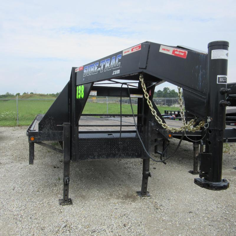 2011 Sure-Trac HD Low Pro Deckover hydraulic Beavertail Equipment Trailer
