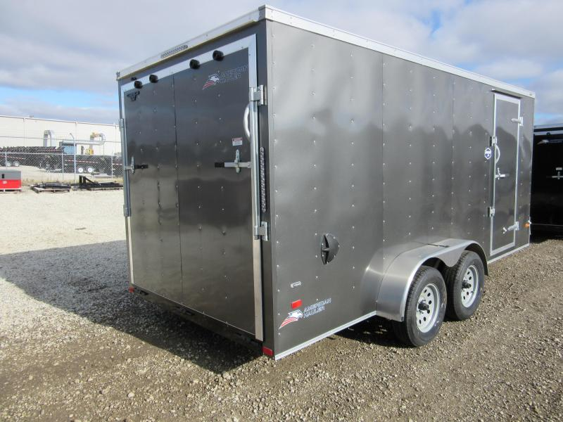 2020 American Hauler Arrow Model 7 x 14 w/rear ramp Enclosed Cargo Trailer