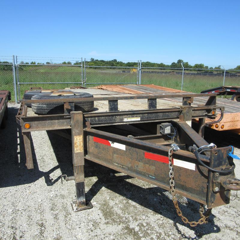 2006 Sure-Trac 8.5 x 20 5 22.5K HD Flatbed Beavertail Deckover Equipment Trailer