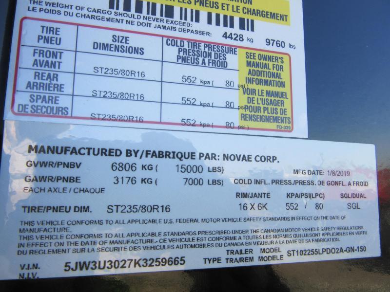 2019 Sure-Trac 8.5x25+5 LowPro Deckover Tandem GN 15K
