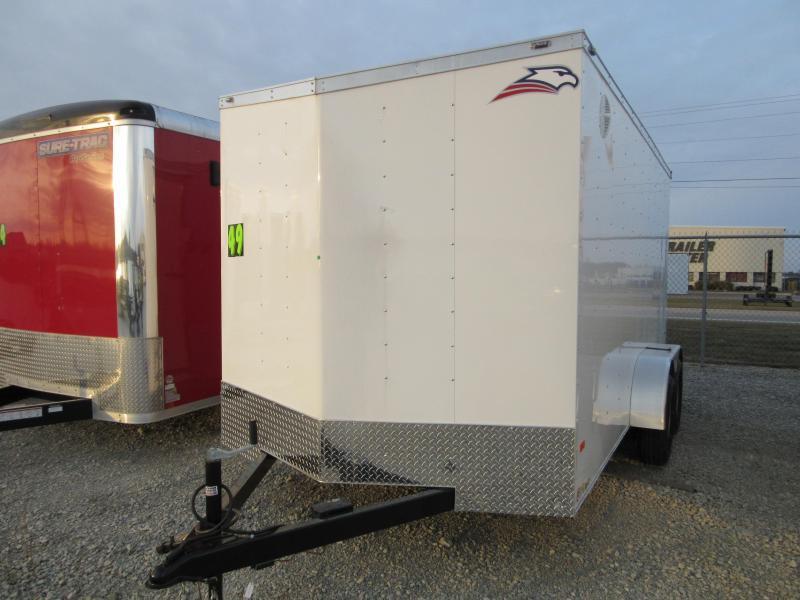 2019 American Hauler AR714TA Slant Wedge double rear doors Enclosed Cargo Trailer