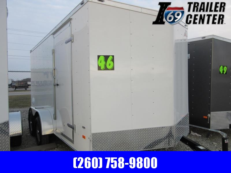 2019 American Hauler AR714TA Slant Wedge double rear doors Enclosed Cargo Trailer