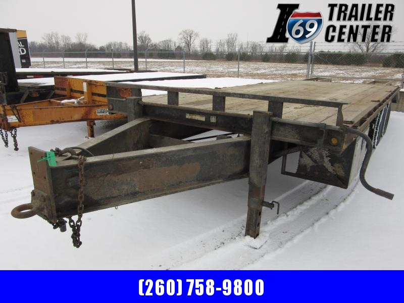 2006 Sure-Trac 8.5 x 20 + 5 20K HD Flatbed & Beavertail Deckover Equipment Trailer