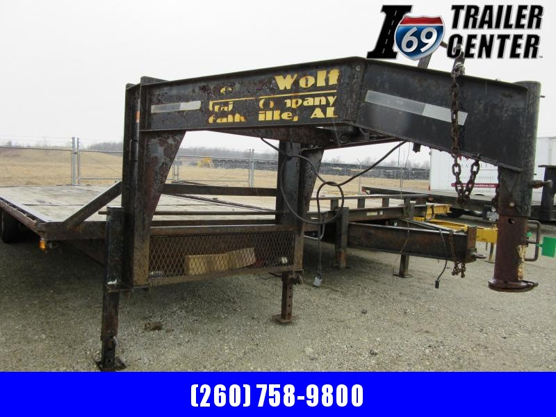 2008 Lone Wolf Trailer deckover 102x25+5 GN Equipment Trailer