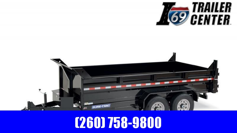 2020 Sure-Trac 82 x 16 14K HD Low Profile Dump (Dual Ram) Dump Trailer