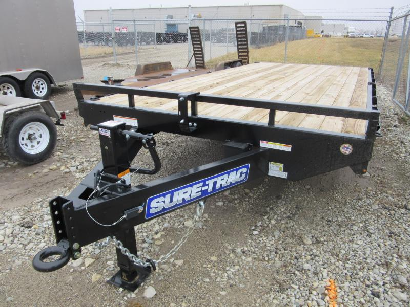 2020 Sure-Trac 8.5 X 18 Ft Standard Duty Flatbed Deckov