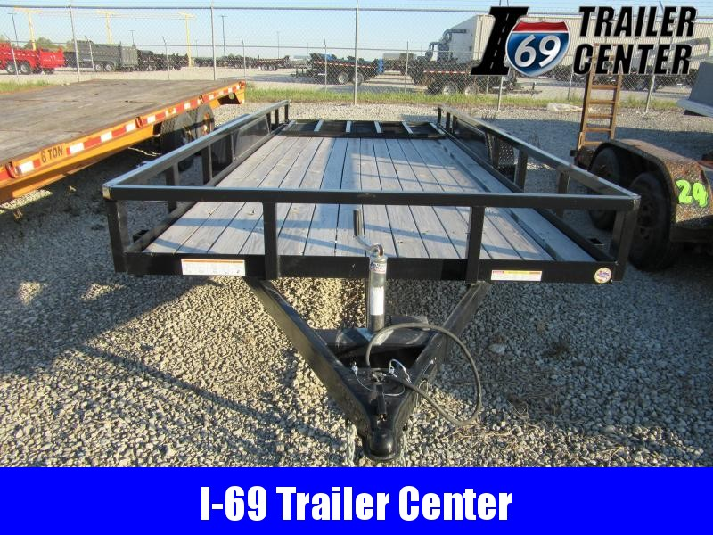 2020 Sure-Trac 7 X 18 TA Tube Top Utility Utility Trailer