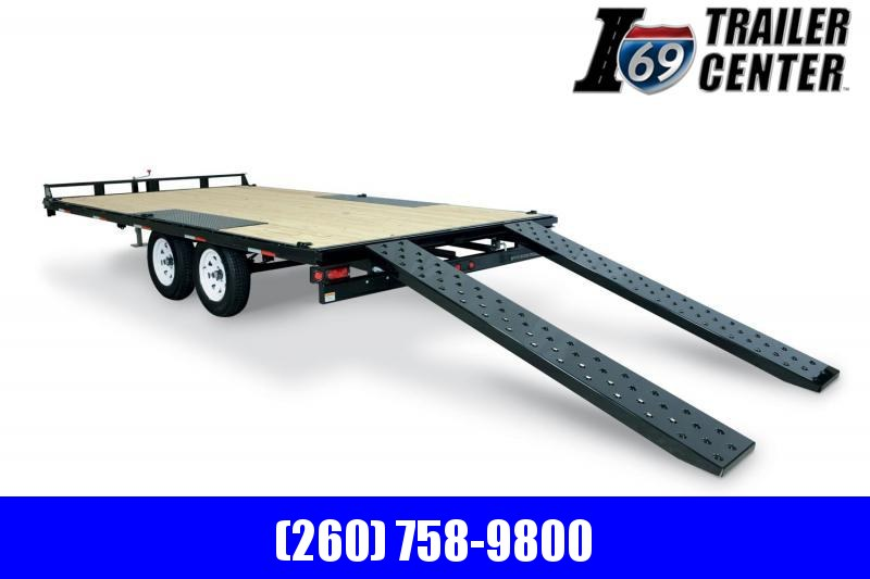 2020 Sure-Trac 8.5 x 20 10K Low Profile Flatbed Deckover Flatbed Trailer