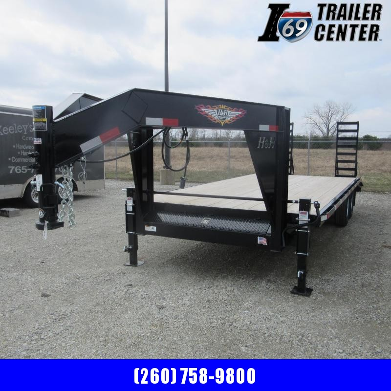 2019 H and H Trailer 102X18+4 HDL GN 4FT DOVE 14K DECKOVER LI