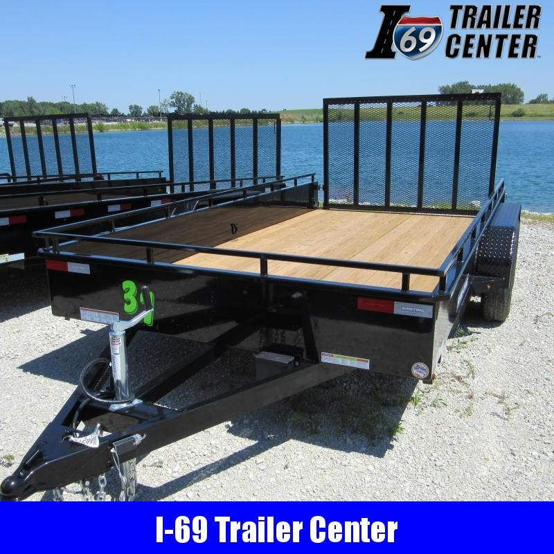 2020 Sure-Trac 7 X 16 TA Steel High Side Utility Trailer