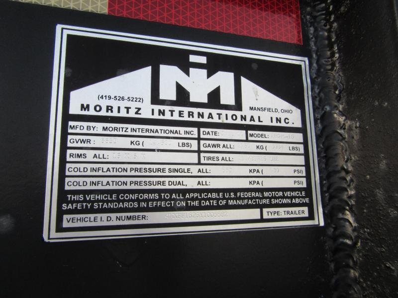 2000 Moritz International 165 Gooseneck Equipment Trailer